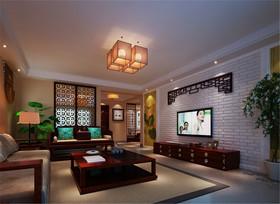 雅致中式风格客厅吊顶设计图