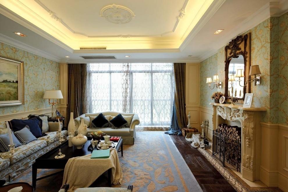 2016欧式风格奢华黄色客厅装修案例