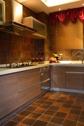 浪漫温馨东南亚厨房橱柜图片