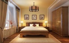 简洁质朴中式风格卧室飘窗设计
