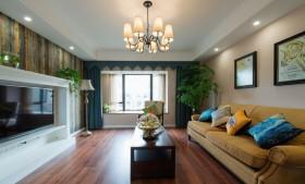黄色东南亚风格客厅吊顶设计赏析