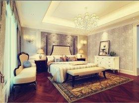 唯美温馨米色欧式卧室装修效果图欣赏