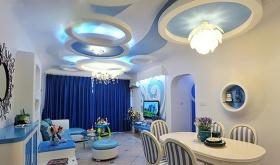 蓝色地中海客厅装潢设计