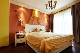 橙色清新宜家风儿童房装修效果图片