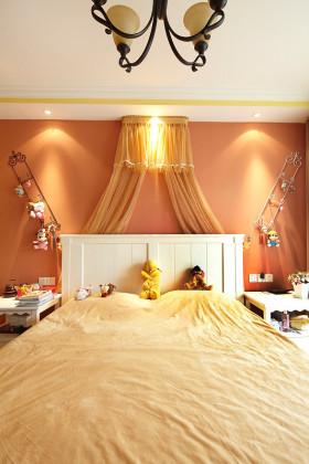 橙色创意美式可爱儿童房装潢案例