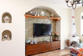 地中海白色客厅背景墙赏析