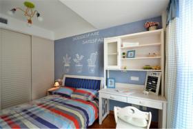 蓝色清新地中海风格儿童房装修欣赏