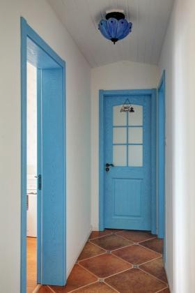 地中海蓝色浪漫过道装饰装饰图