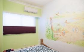 绿色地中海风格卧室背景墙欣赏