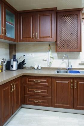 2016红色美式风格厨房橱柜设计欣赏