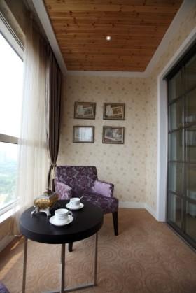 黄色东南亚风格阳台装修布置