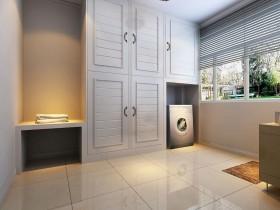 欧式风格白色清爽实用收纳柜设计装修布置