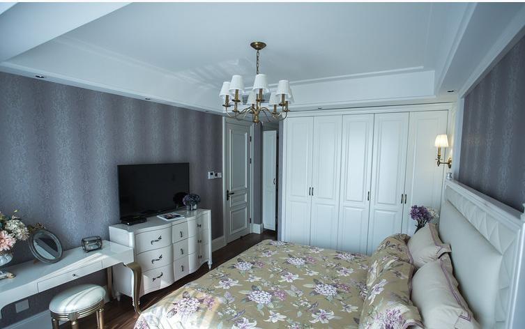 简欧风格白色素雅卧室装潢设计
