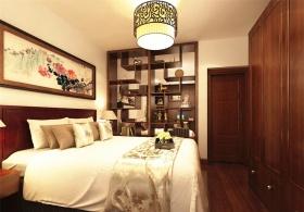 中式典雅时尚卧室效果图欣赏