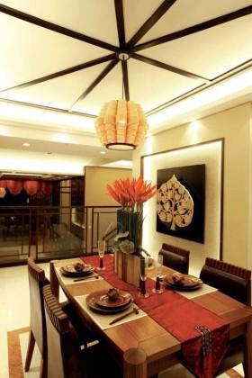 东南亚餐厅吊顶效果图赏析