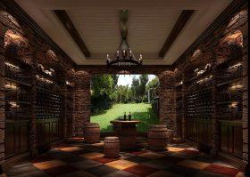 神秘复古时尚美式风格酒窖设计效果图