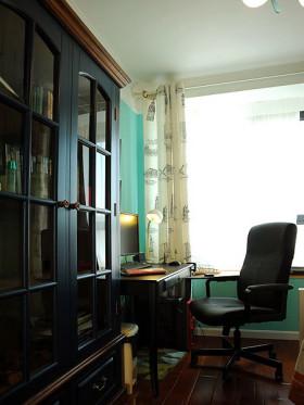 黑色简欧风质感书房装修案例