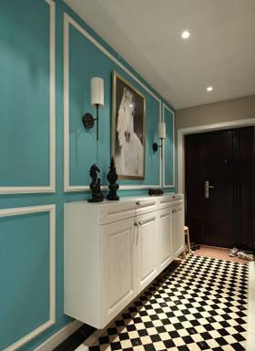 简约文艺质感蓝色鞋柜设计欣赏