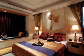 东南亚个性暖色系卧室飘窗赏析