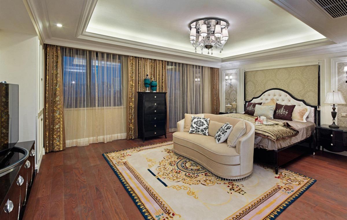 欧式风格卧室吊顶装修设计欣赏