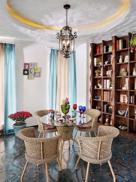 浪漫清新米色地中海风格书房吊顶设计赏析