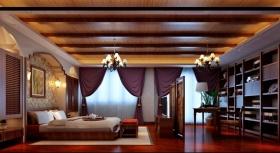 东南亚风格卧室吊顶设计