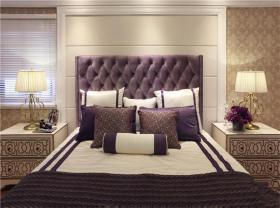 紫色轻奢欧式风格卧室装修设计