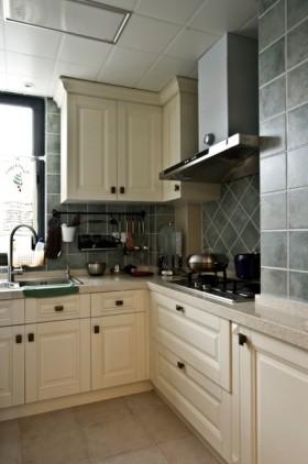 灰色美式厨房橱柜设计图片