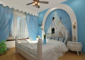 地中海风格卧室飘窗装修图