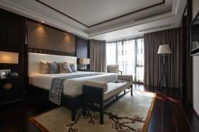 黑色中式风格卧室装修设计