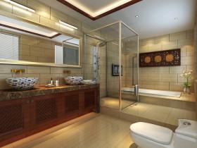 黄色素雅新古典风格卫生间装修案例
