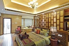 黄色古典中式风格卧室装饰案例