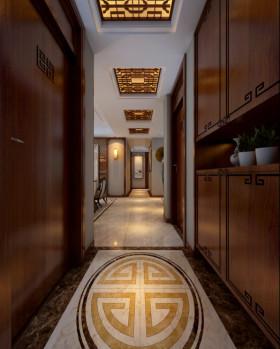新古典风格素雅橙色过道装修设计