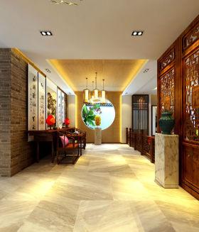 2016温馨橙色新古典风格玄关装修设计