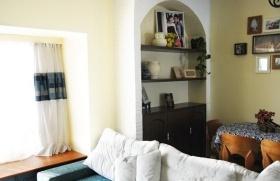 温馨雅致田园风格客厅收纳柜设计装修图