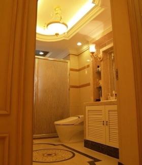 欧式风格橙色卫生间吊顶设计装潢