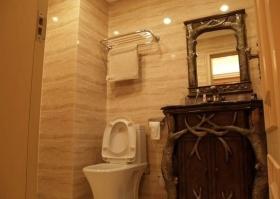 橙色复古创意欧式卫生间装修效果图片