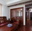 红色雅致中式风格客厅装修设计