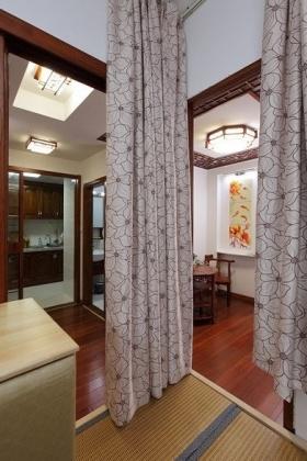 红色新古典风格窗帘效果图设计