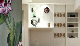 雅致中式风格米色收纳柜设计