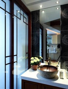 中式雅致卫生间设计装饰图