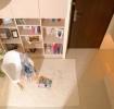 米色宜家风格客厅书柜设计赏析