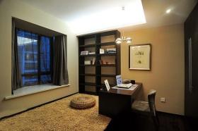黄色简约书房榻榻米设计图片