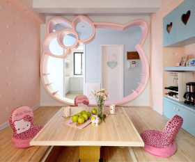 混搭粉色榻榻米设计案例