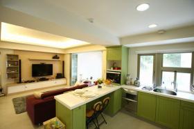 2016田园风格绿色餐厅装潢设计