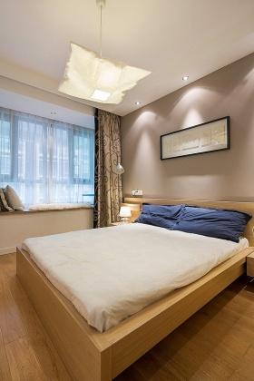 现代简洁卧室飘窗图片