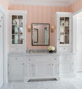 精致简欧风格卫生间浴室柜装修布置