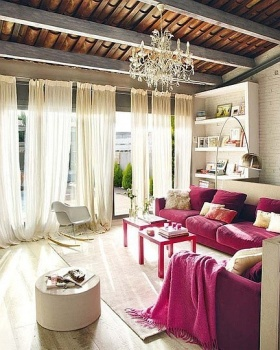 东南亚时尚摩登客厅吊顶装修效果图