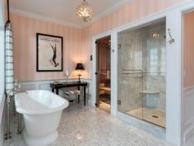 地中海风格浪漫粉色卫生间装修赏析