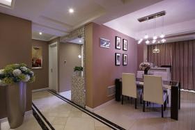 紫色唯美简约风格餐厅装饰设计图片
